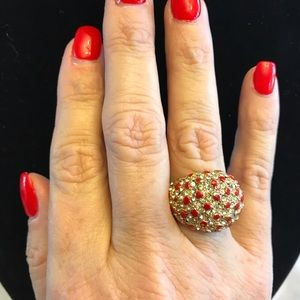 Jewelry - Beautiful red and gold cocktail ring